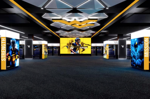 Artist rendering of locker room