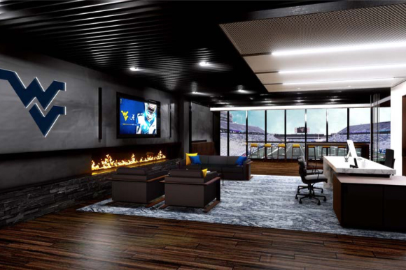 Artist rendering of office space at Milan Puskar Stadium